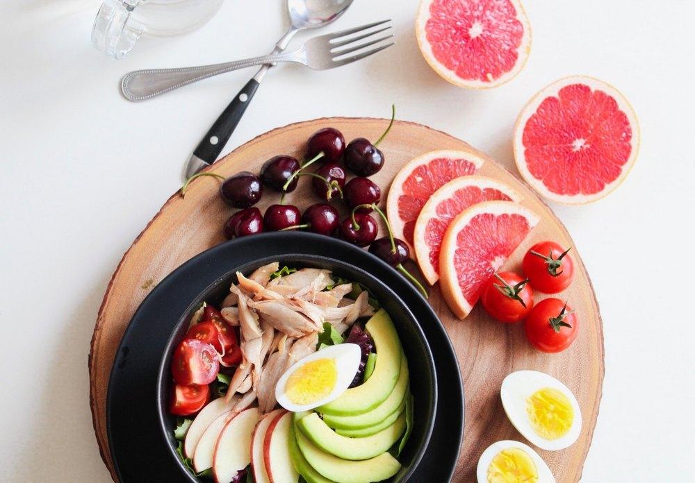 Eat balanced healthy meals